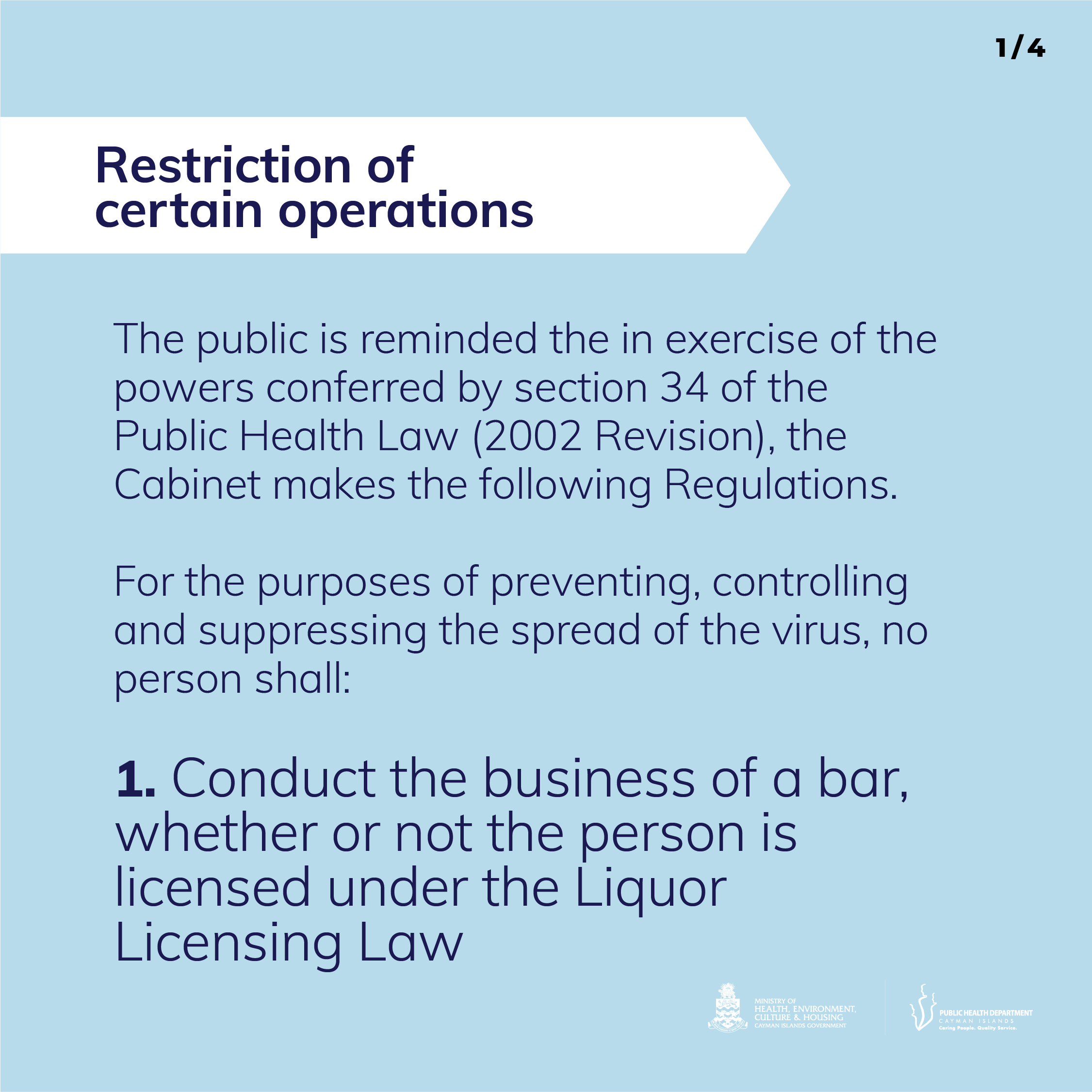 Business Restrictions 1 of 4