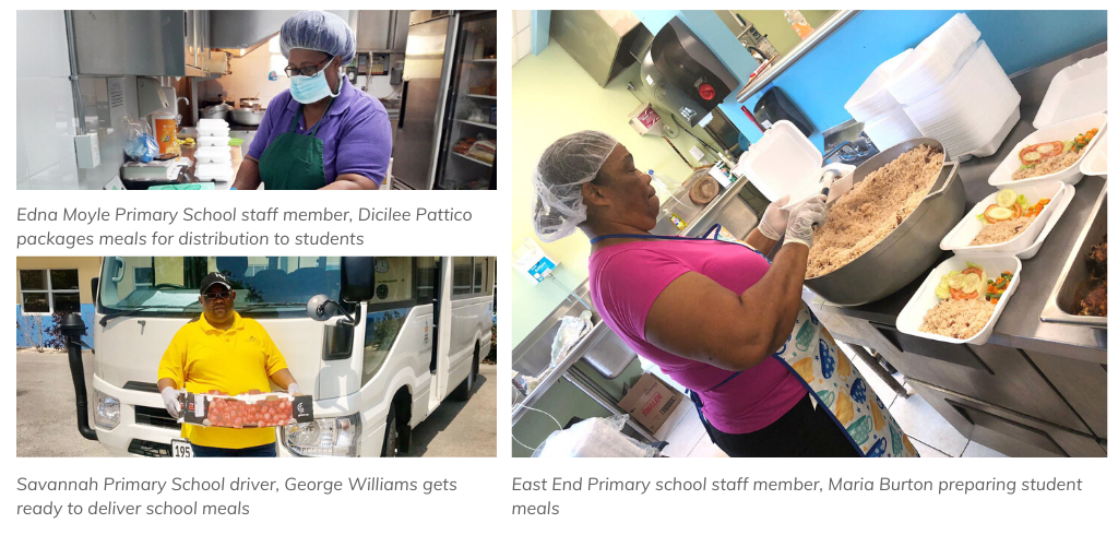 Cayman Islands Schools continue to feed their students
