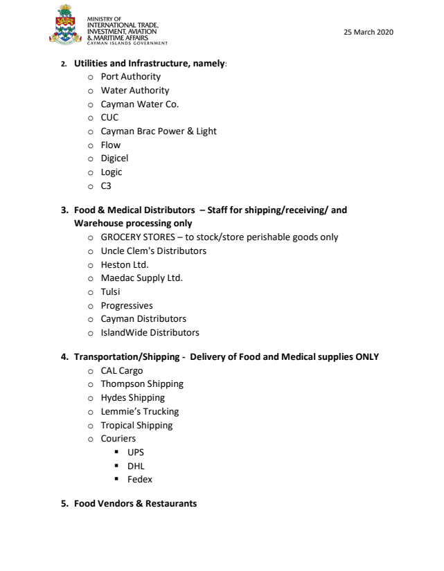 Categories for Exempt Organizations March 25 Page 2