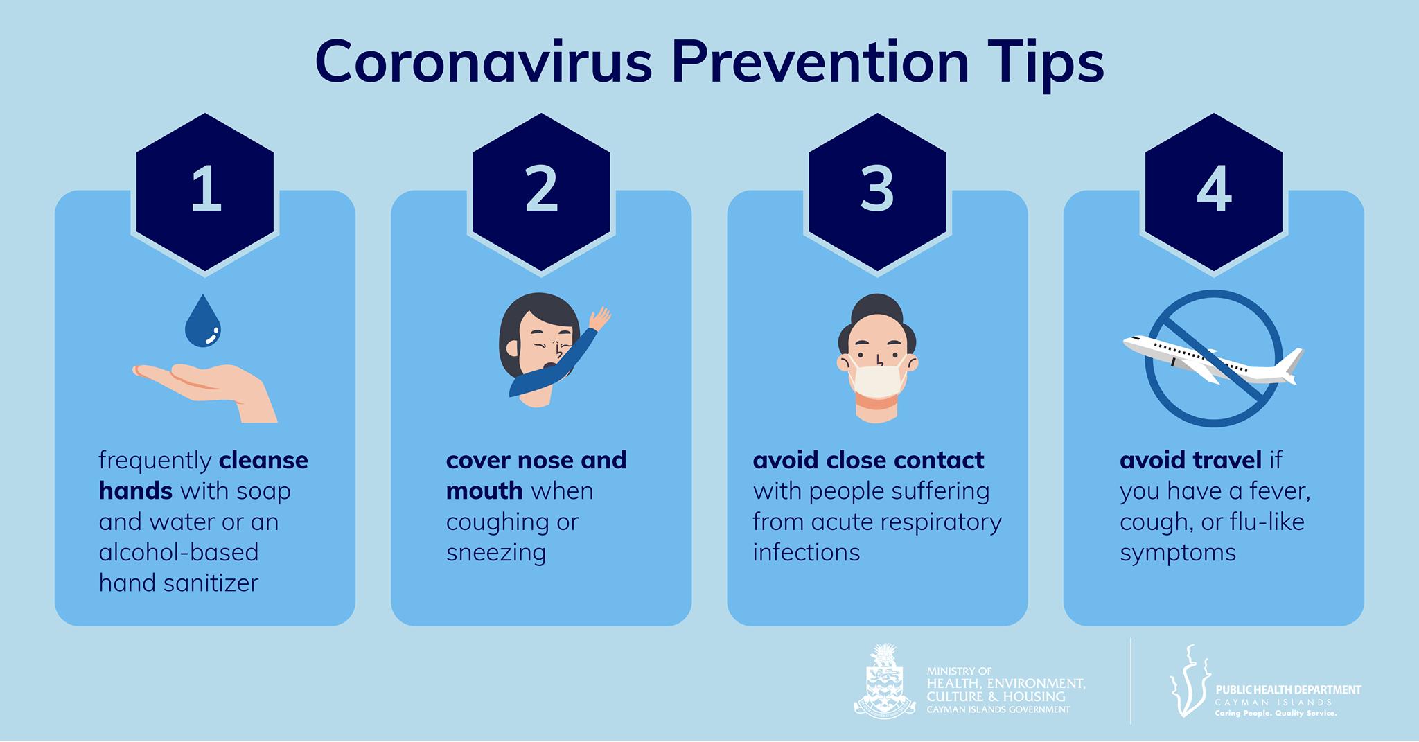 Coronavirus Prevention Tips - 4 tips