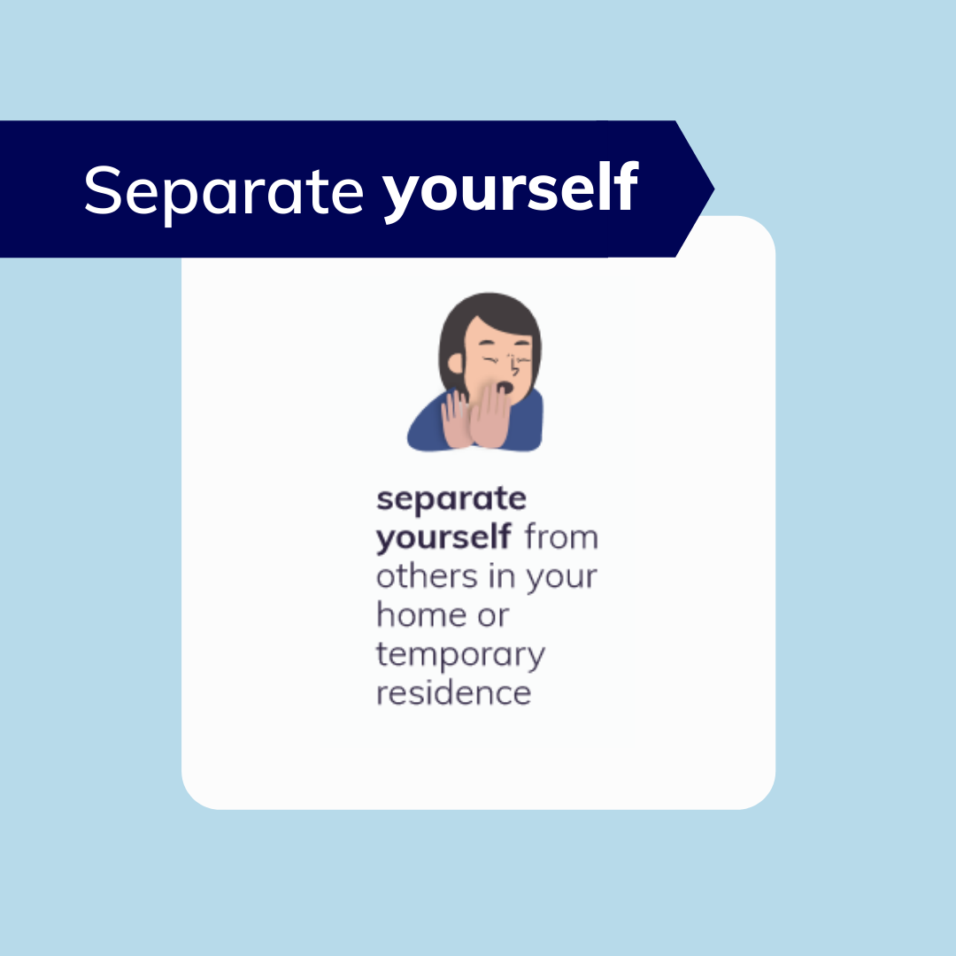 How to self isolate - Separate yourself from your family