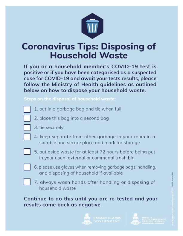 Disposing Household Waste During COVID-19