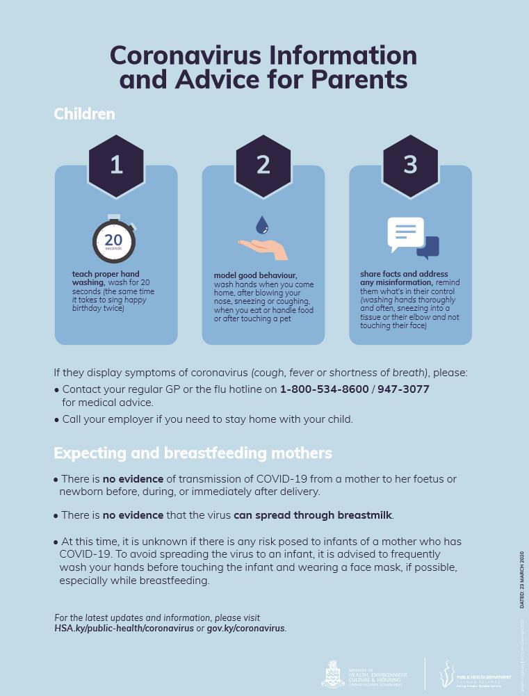 Parents Info Sheet 23 March